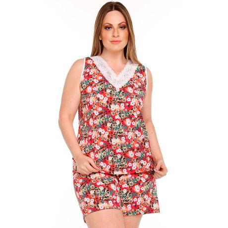 Pijama Plus Size Regata com Renda em Liganete fad2ac7259d