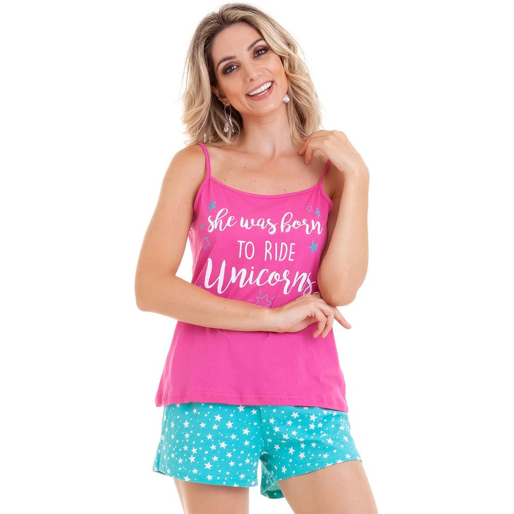 4301f4c58 DESCRIÇÃO; TABELA DE MEDIDAS. Produto. Pijama Short Doll Regata Pink  Estrelas Feminino ...