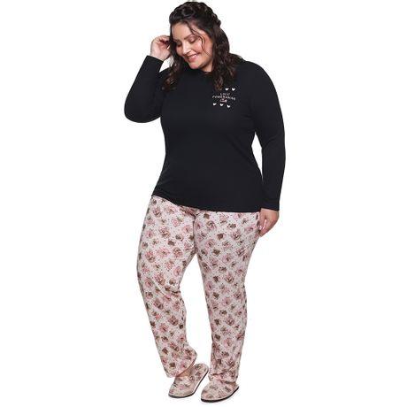 8ca0bbbdf Pijama de Inverno Cachorrinho Plus Size Adulto Luna Cuore