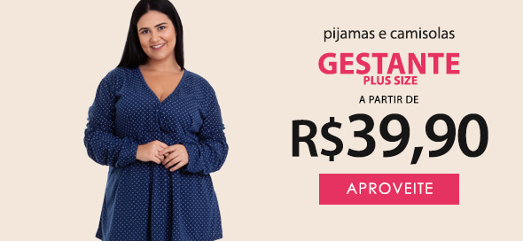 Pijama Maternidade Plus Size