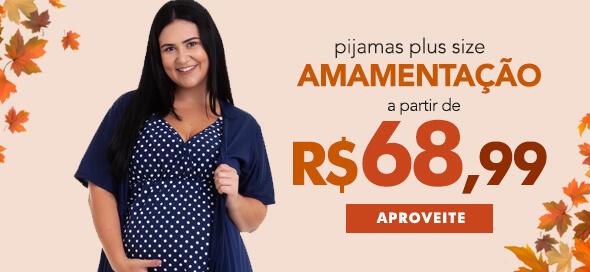 Camisola e Pijama Plus Size Gestante