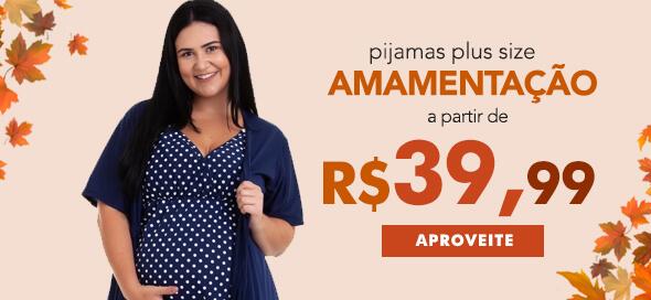Pijamas e Camisolas Plus Size
