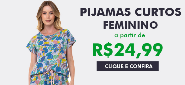 Pijama Curto Feminino