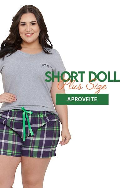 Pijama Shortdoll Plus Fem.